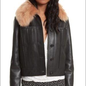 Diane Von FURSTENBERG Black leather jacket, S,M